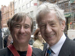 Keith Stern and Ian McKellen, London 2008